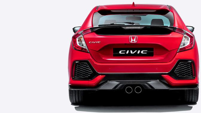 Rückansicht des Honda Civic.