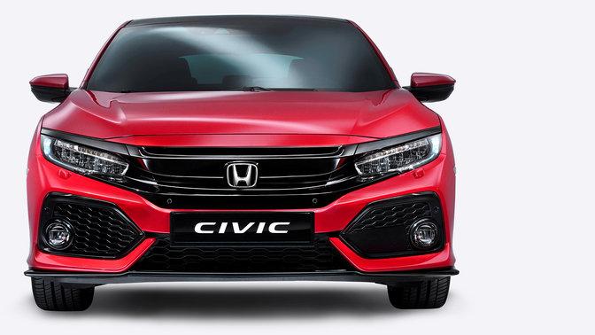 Frontansicht des Honda Civic.