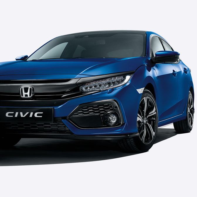 Honda Civic in 3/4-Frontansicht.