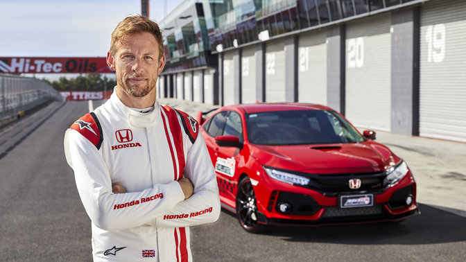 Der Honda Civic Type R mit Jenson Button