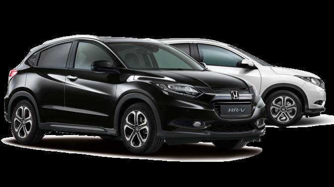 schwarzer und weißer Honda HR-V