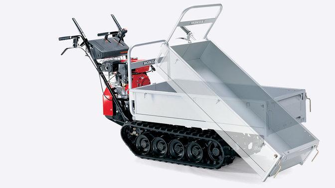 Mit der kippbaren Ladefläche wird Ihr Transportgut auf dem Boden abgeladen.