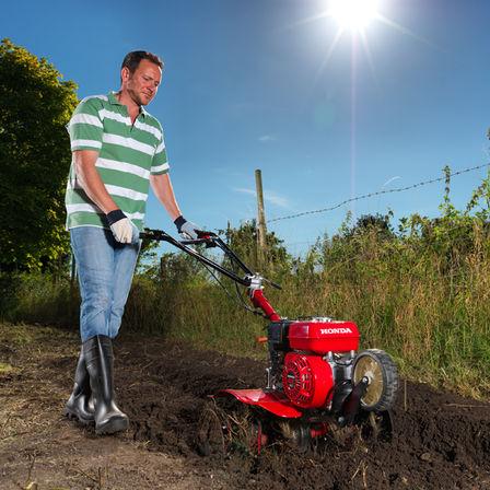 Kompakt-Motorhacke, Verwendung nach Modell, Gartenumgebung.