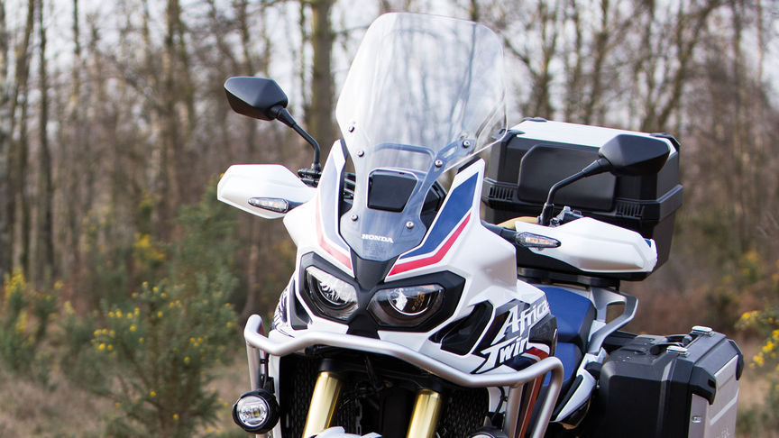 Windschild einer Honda Africa Twin