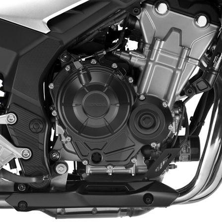 CB500X, Studioaufnahme, Nahaufnahme des Motors