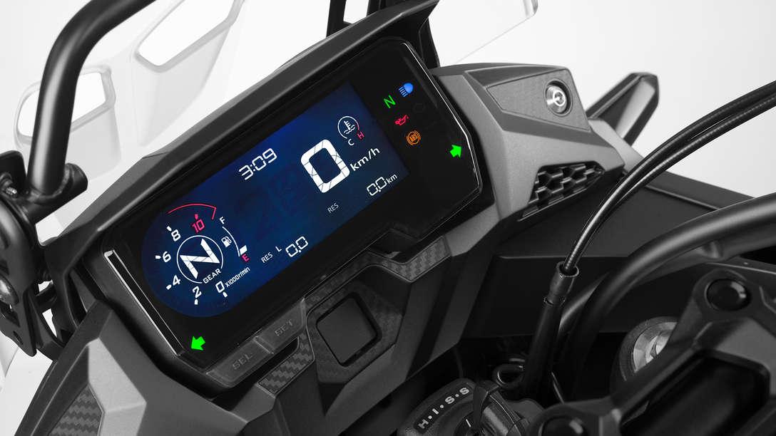 CB500X, Nahaufnahme des Cockpits