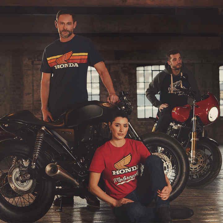 Vintage Bekleidung Besitzer Motorräder Honda