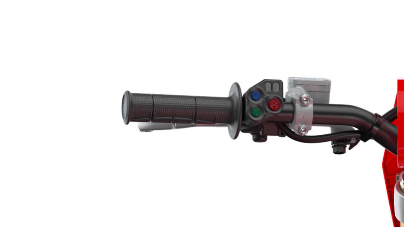CRF450R, Nahaufnahme des Fahrmodus-Schalters (EMSB)