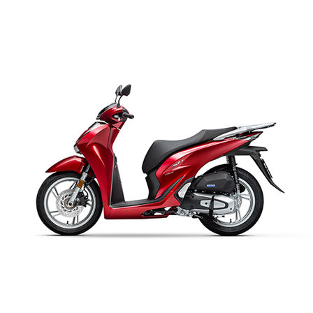 Honda SH150i, linke Seite, Modell in Pearl Splendor Red