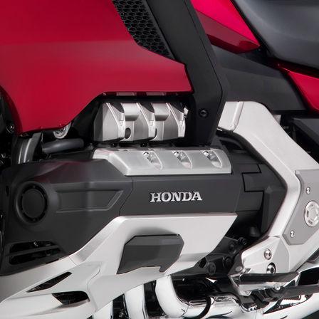 Nahaufnahme des Motors der Honda Gold Wing.