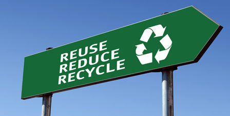 'Reuse, Reduce, Recycle' -Schild