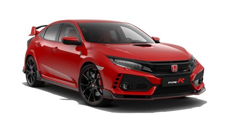 roter Honda Civic Type R Frontansicht
