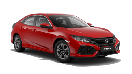 roter Honda Civic Frontansicht PNG