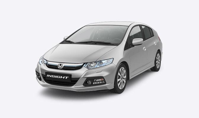 grauer Honda Insight Frontansicht