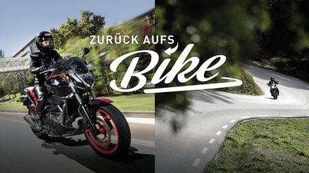 Zurück aufs Bike