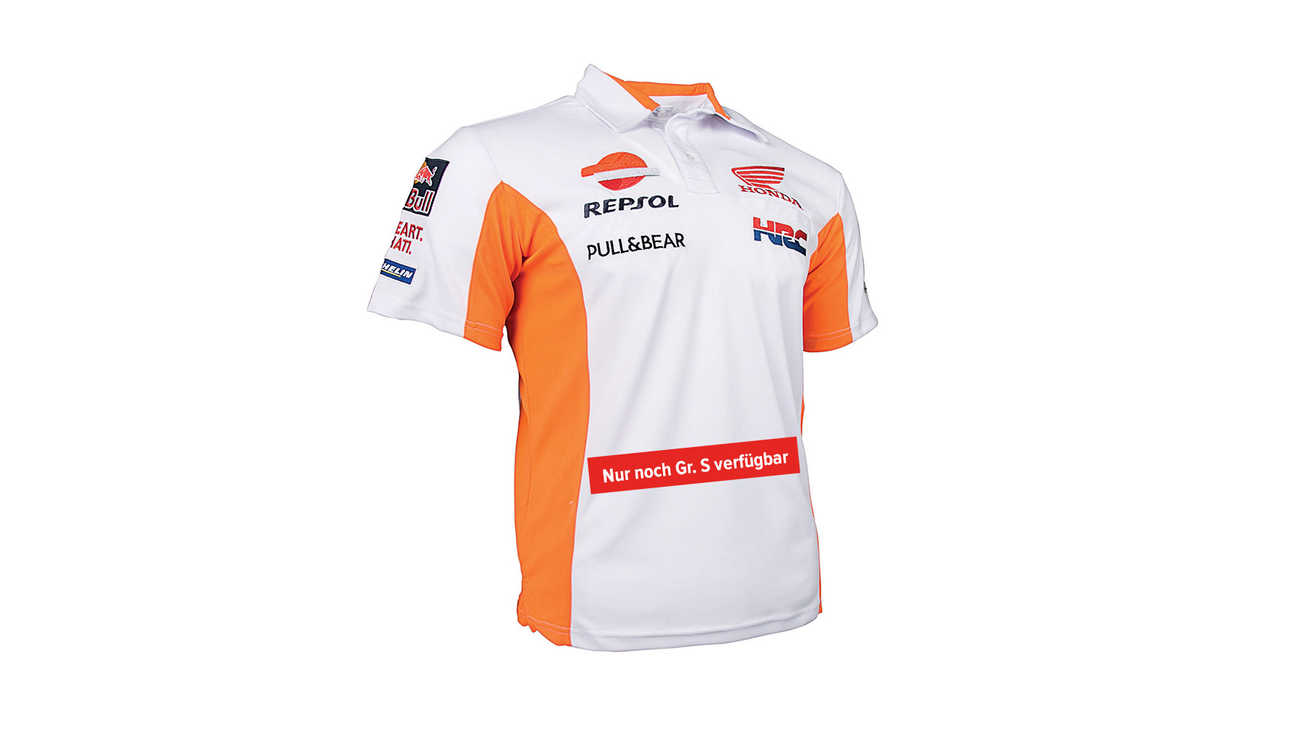 Weißes T-Shirt mit Honda Racing Corporation Logo.
